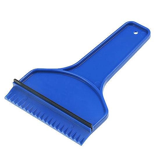plastikowa skrobaczka do szyb z gumką i rączką niebieska