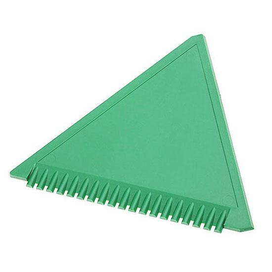 trójkątna skrobaczka do szyb z ząbkami zielona