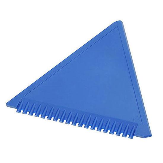 trójkątna skrobaczka do szyb z ząbkami niebieska