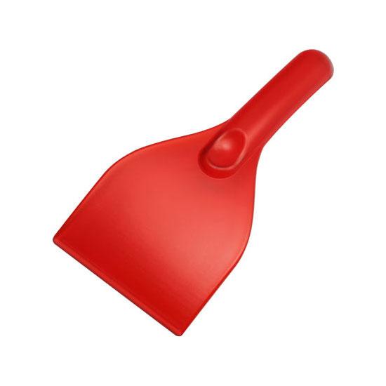 gładka skrobaczka do szyb z rączką czerwona