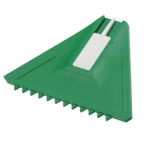 skrobaczka do szyb z białym miernikiem do opon zielona