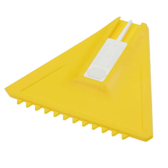 skrobaczka do szyb z białym miernikiem do opon żółta