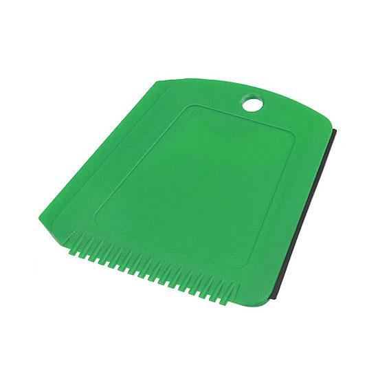 Skrobaczka do szyb z gumką + ząbki zielona