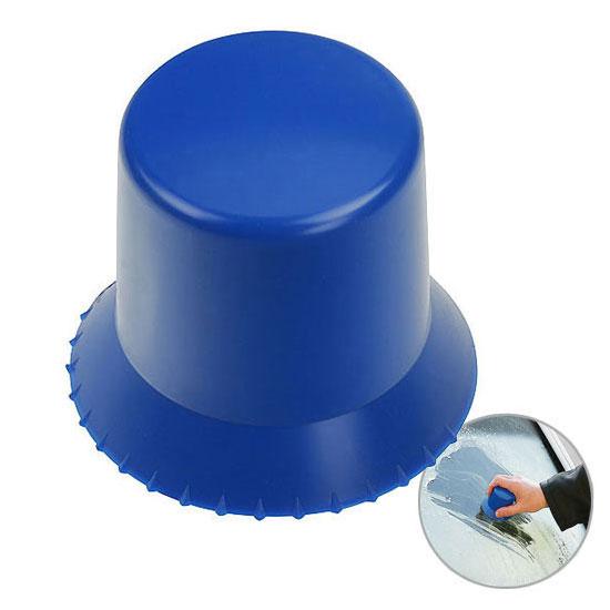 Okrągła skrobaczka do szyb niebieska