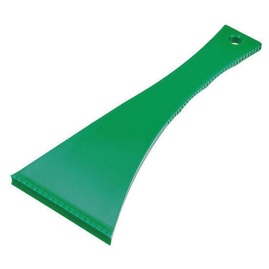 skrobaczka do szyb z długim uchwytem zielona