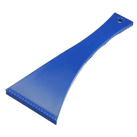 skrobaczka do szyb z długim uchwytem niebieska