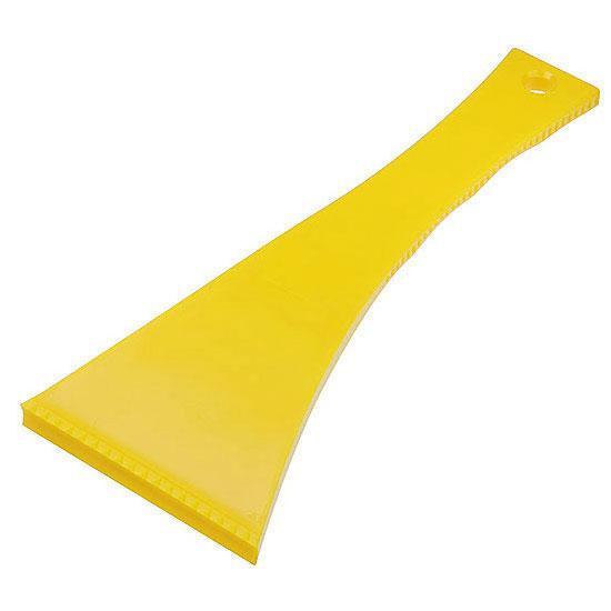 skrobaczka do szyb z długim uchwytem żółta