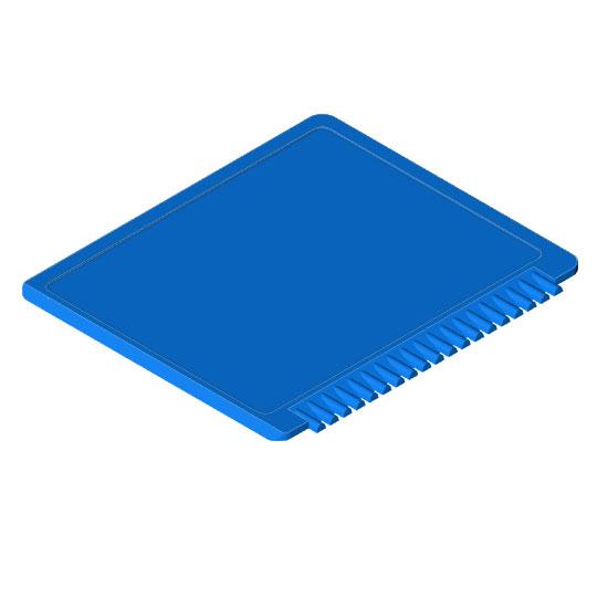 prostokątna skrobaczka do szyb niebieska