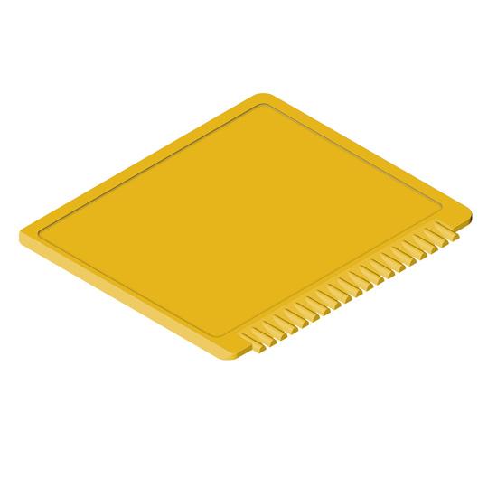 prostokątna skrobaczka do szyb żółta
