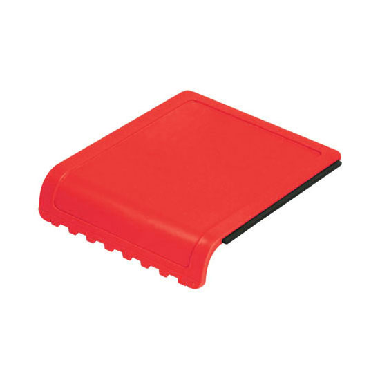 skrobaczka do szyb z gumką i ząbkami czerwona