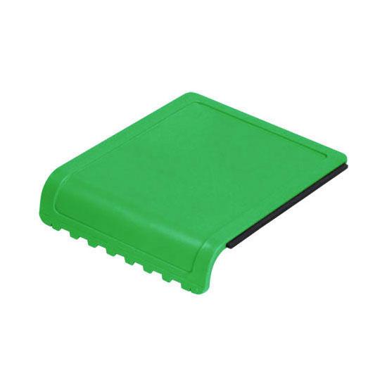 skrobaczka do szyb z gumką i ząbkami zielona