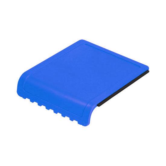 skrobaczka do szyb z gumką i ząbkami niebieska