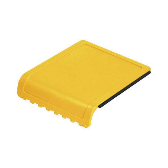 skrobaczka do szyb z gumką i ząbkami żółta