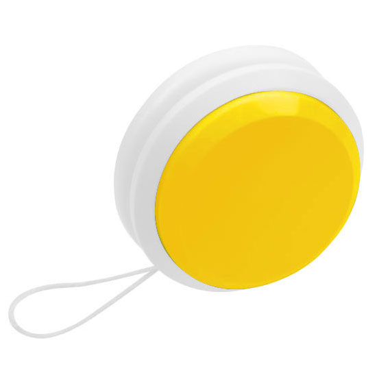 gadżet dla dzieci dwukolorowe plastikowe jojo żółty i biały