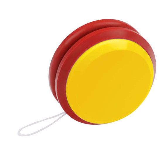 gadżet dla dzieci dwukolorowe plastikowe jojo żółty i czerwony