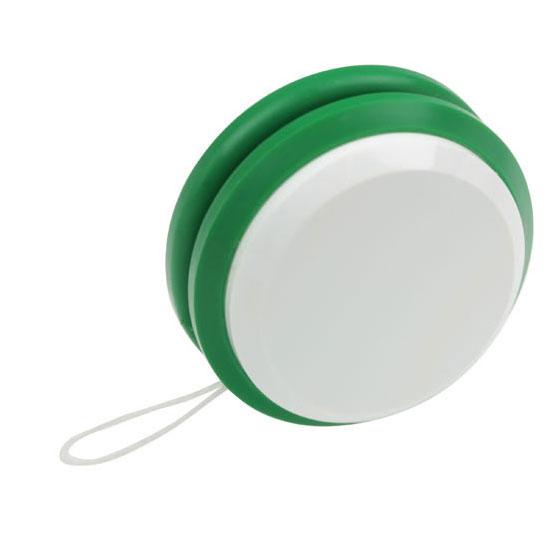 gadżet dla dzieci dwukolorowe plastikowe jojo bialy i zielony
