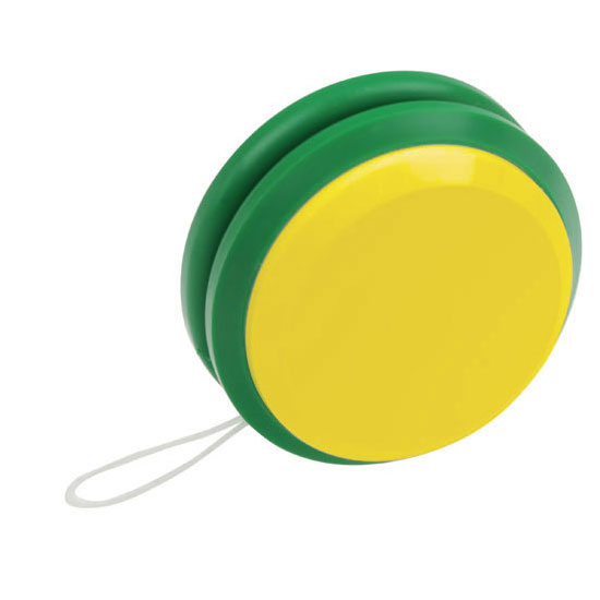 gadżet dla dzieci dwukolorowe plastikowe jojo żółty i zielony