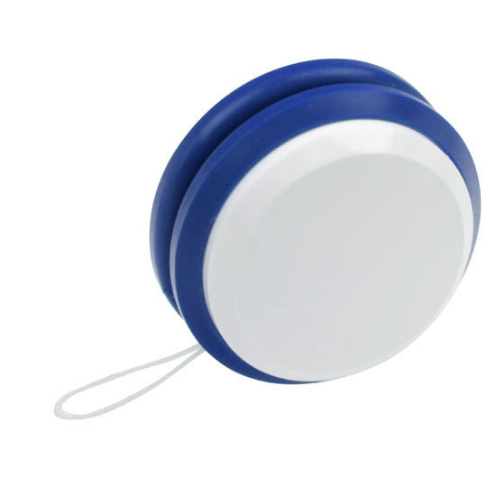 gadżet dla dzieci dwukolorowe plastikowe jojobiały i niebieski