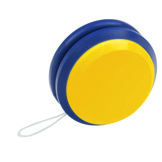 gadżet dla dzieci dwukolorowe plastikowe jojo żółty i niebieski