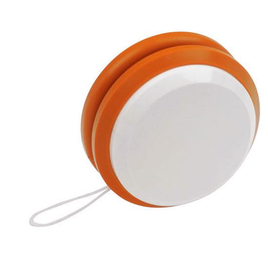 gadżet dla dzieci dwukolorowe plastikowe jojo biały i pomarańczowy
