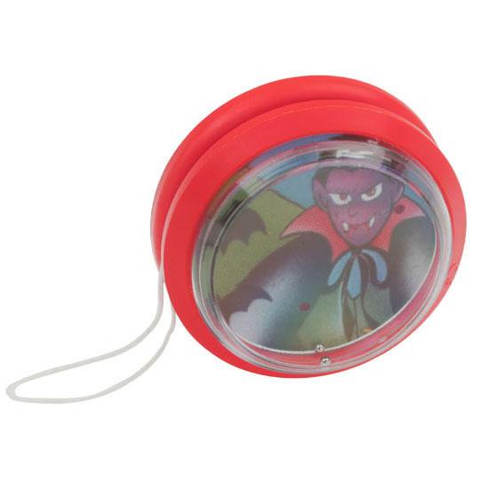 gadżet dla dzieci plastikowe jojo z grą na kuleczki czerwone
