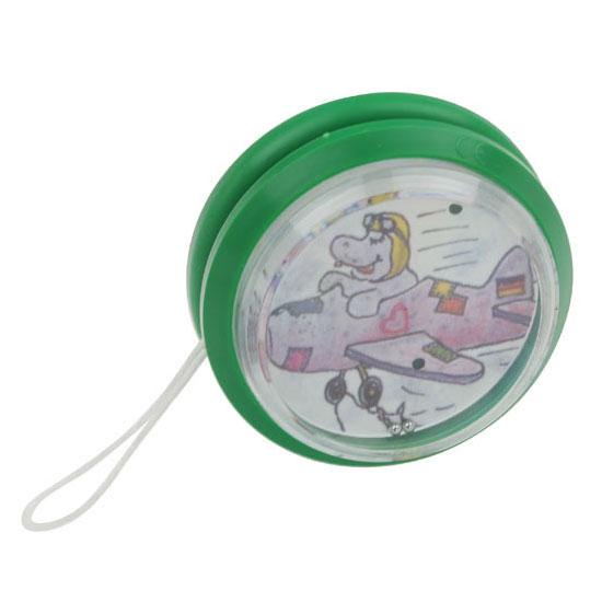 gadżet dla dzieci plastikowe jojo z grą na kuleczki zielone