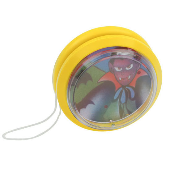 gadżet dla dzieci plastikowe jojo z grą na kuleczki żółte
