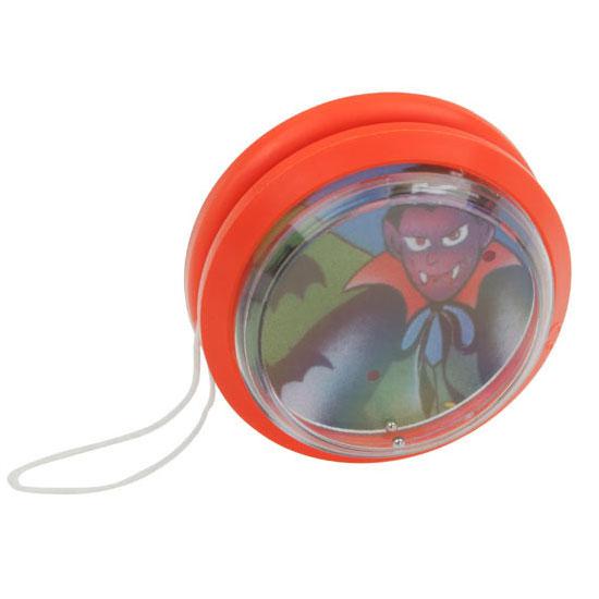 gadżet dla dzieci plastikowe jojo z grą na kuleczki pomarańczowe