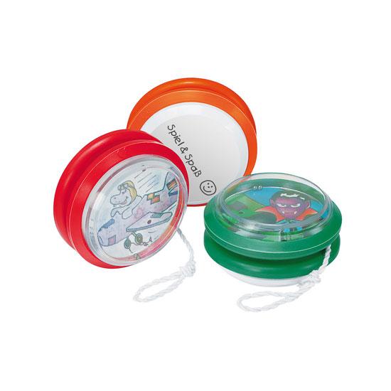 gadżet dla dzieci plastikowe jojo z grą na kuleczki zestaw różne kolory