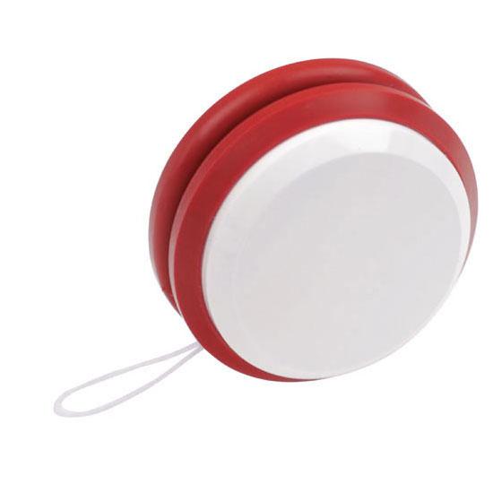 gadżet dla dzieci dwukolorowe plastikowe jojo białe i czerwone