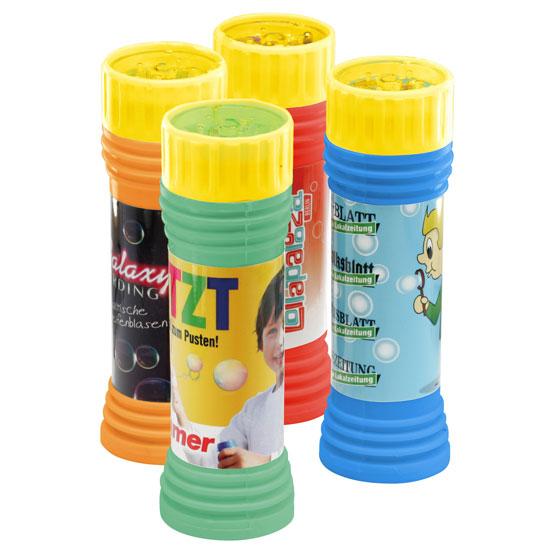 gadżet dla dzieci bańki mydlane w butelce żółtej