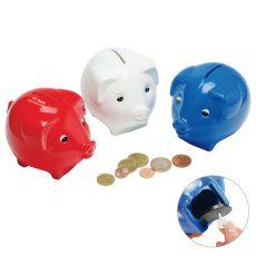 gadżet dla dzieci świnka skarbonka trzy kolory połysk