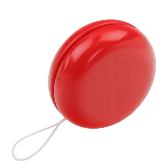 gadżet dla dzieci czerwone plastikowe jojo