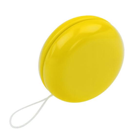 gadżet dla dzieci żółte plastikowe jojo