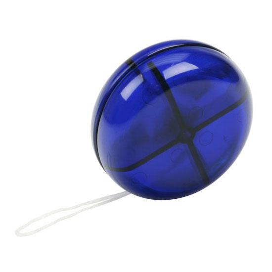 gadżet dla dzieci półprzezroczyste niebieskie plastikowe jojo
